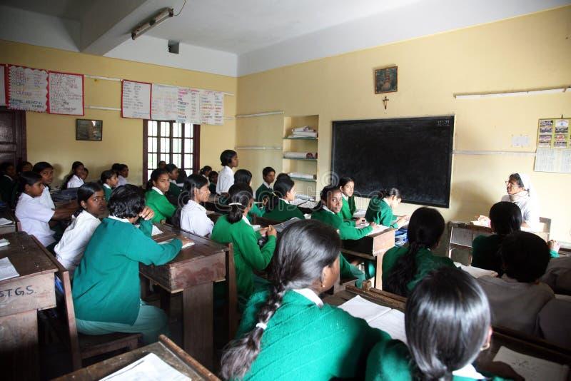 st västra teresa för skola för hihg för basantibengal flickor royaltyfri fotografi