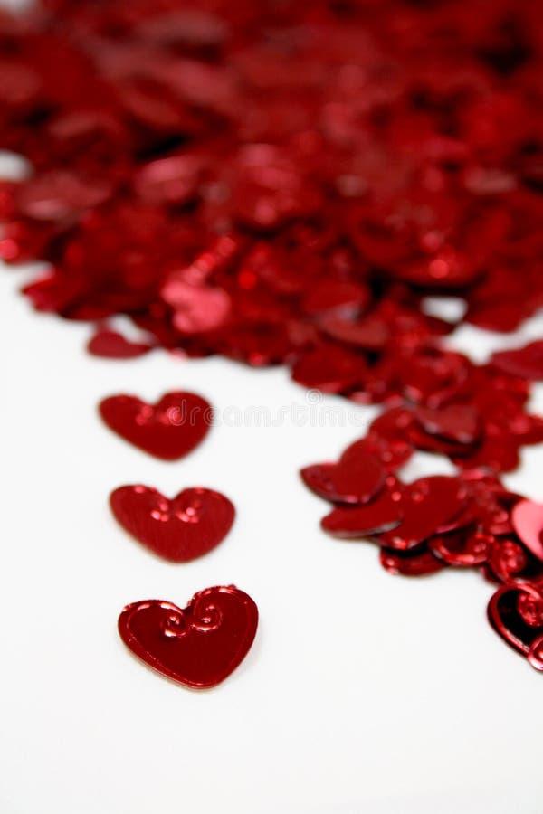 St-valentijnskaart harten stock foto