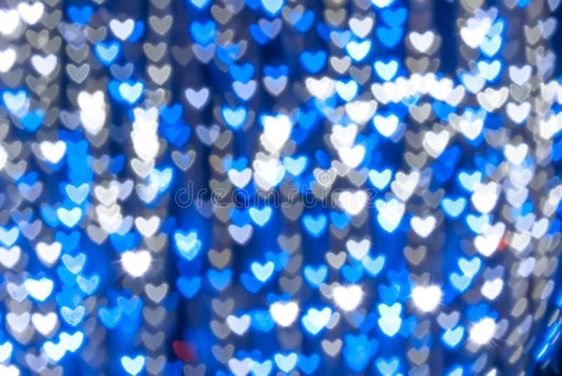 St. Valentin bakgrund för hjärta för dagblått vektor illustrationer