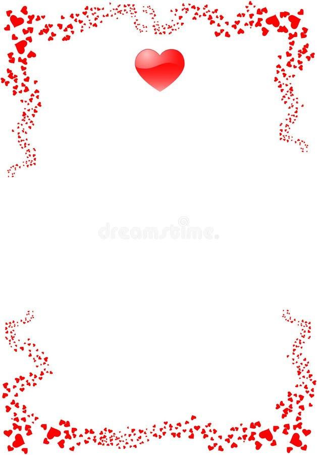 st-valentin för 2 kort s stock illustrationer