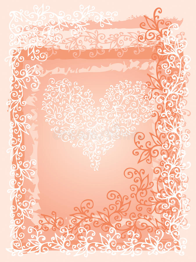 St.Valentine爱红色心脏卡片III 向量例证