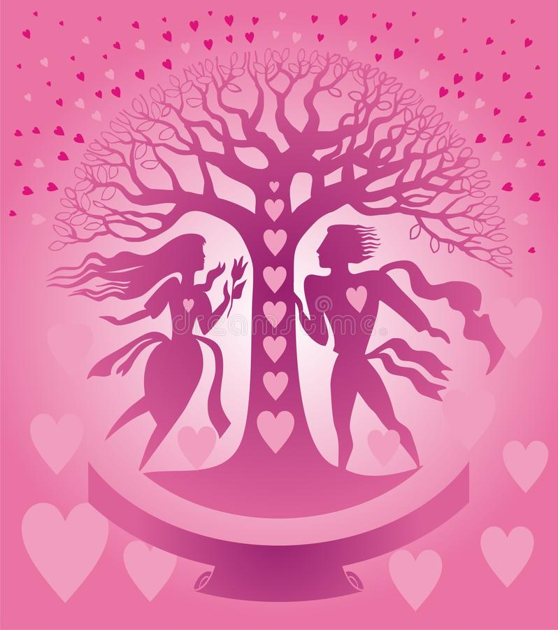 Download St. Valentine card stock vector. Illustration of life - 23111284