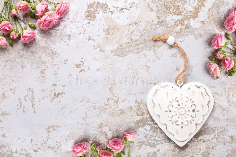 St. Valentine Day background greeting card stock image