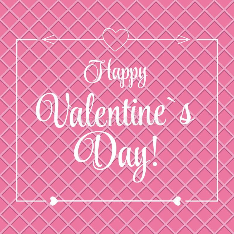 St Valentine Day Greeting Card de vecteur dans rétro illustration stock