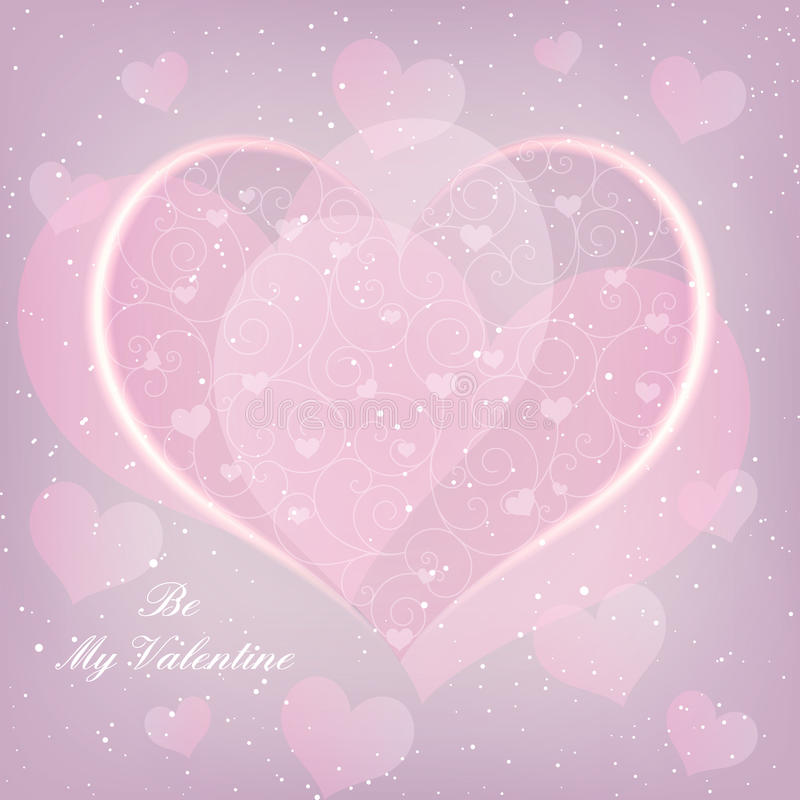 Free St Valentine Day Heart Shape Greeting Card Royalty Free Stock Photo - 36456465