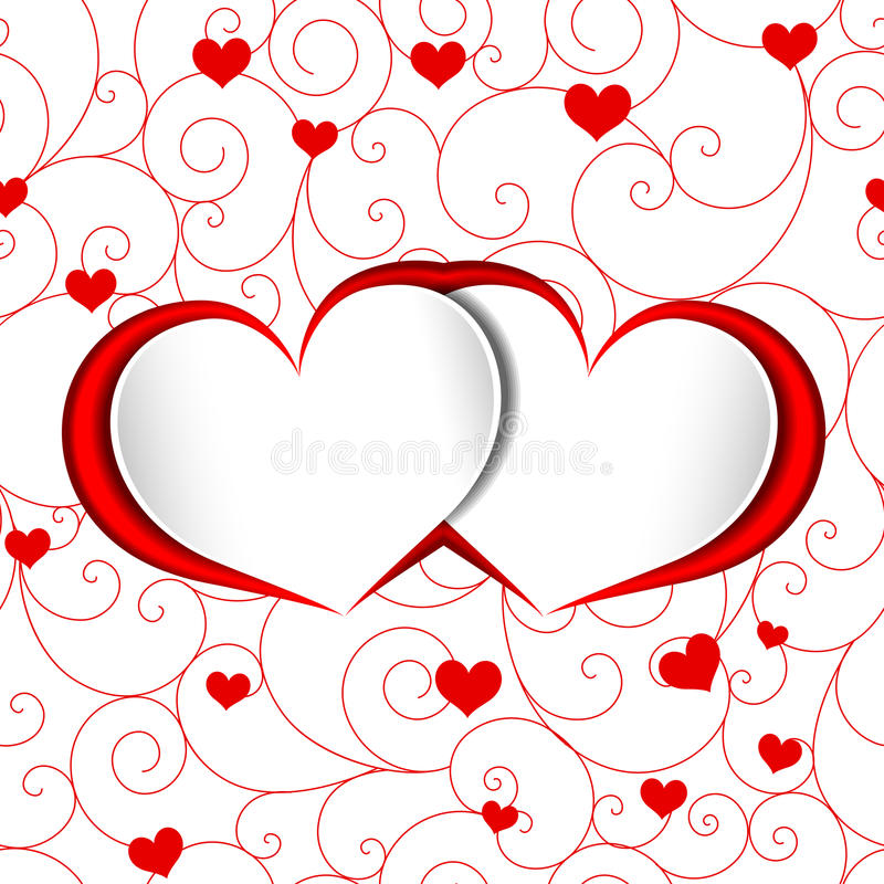 St Valentine Heart Shape Background illustrazione vettoriale