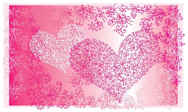St. Valentine Love Red Heart Card II ilustração stock