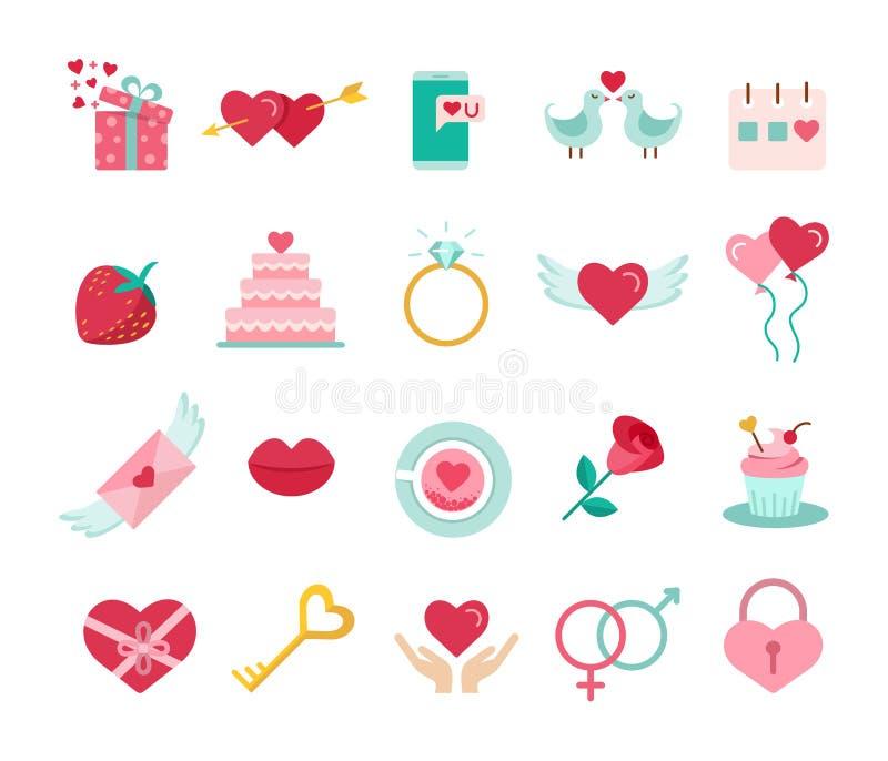 St Valentine ` s dagpictogrammen royalty-vrije illustratie
