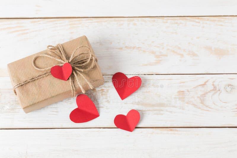 St. Valentine's day gift. Box stock photo
