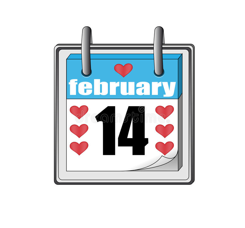 Free St Valentine's Day Icon Of The Calendar Stock Photos - 12431483