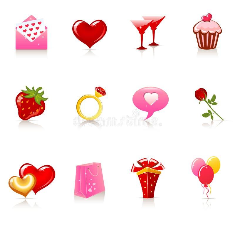 St. Valentine's Day icons vector illustration