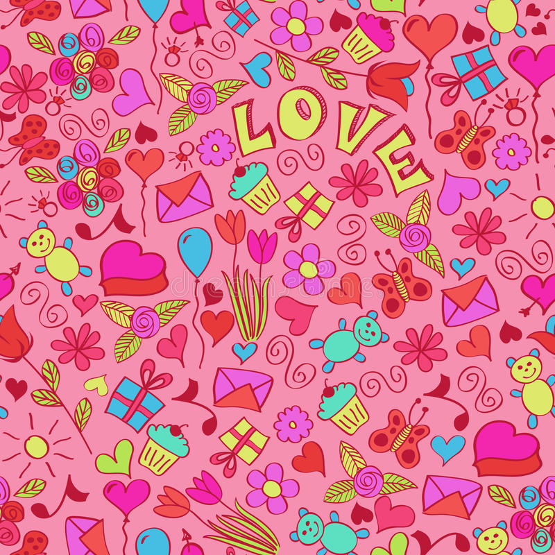 Download St Valentine's Seamless Pattern. Stock Vector - Image: 20822339