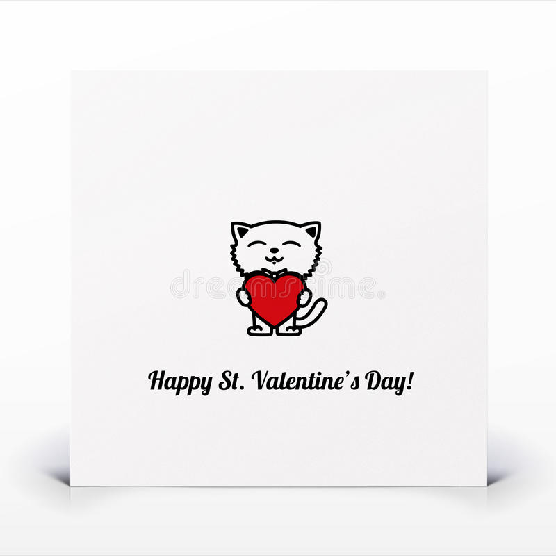 Download St. Valentines Day Card Stock Images - Image: 27411204