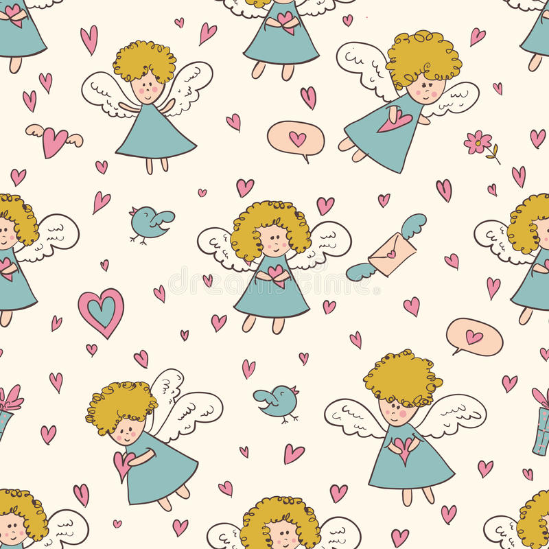 St. valentines day pattern stock photography