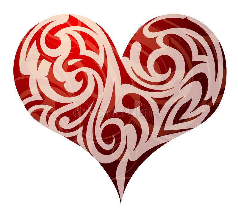 Download St. Valentines heart shape stock vector. Image of curls - 29061233