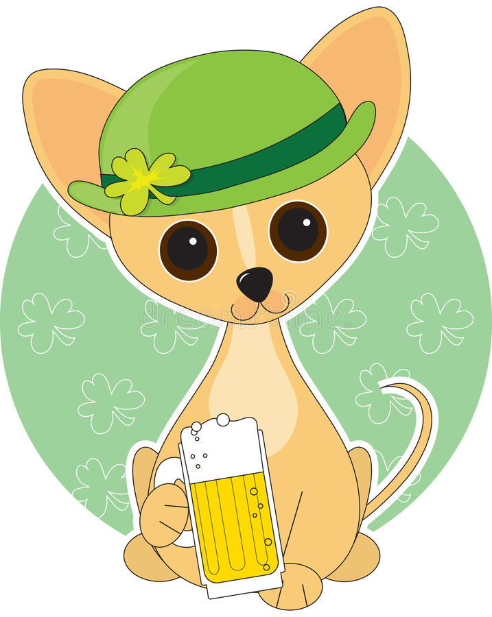 St. van Chihuahua Klopje royalty-vrije illustratie