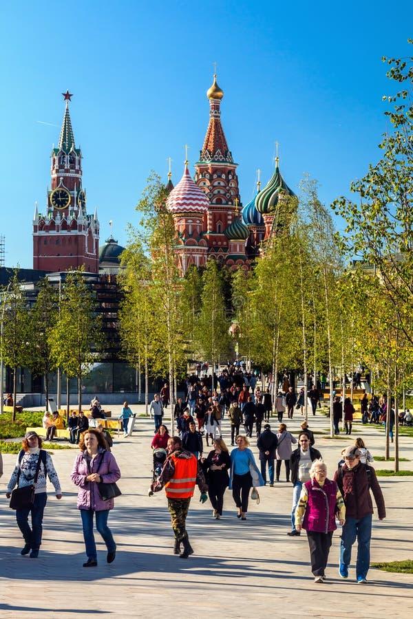 St van de Pokrovskykathedraal Basilicum ` s en Moskou het Kremlin van P royalty-vrije stock foto