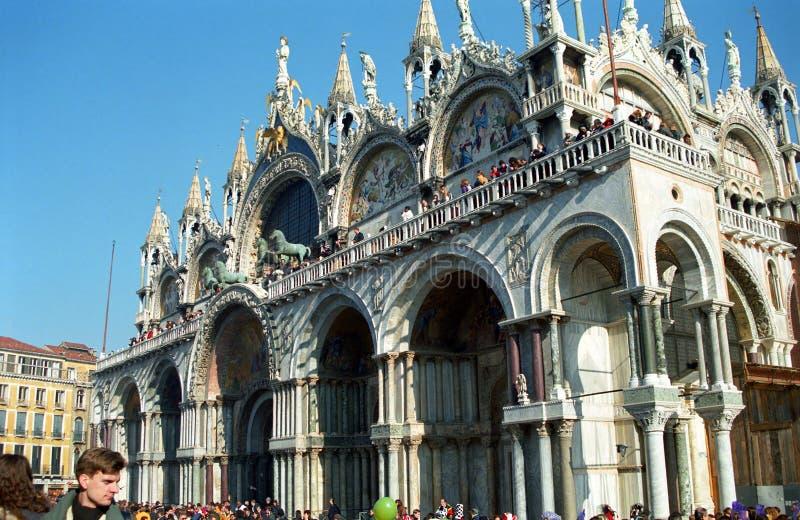 st venice för basilicaitaly fläck s royaltyfria bilder