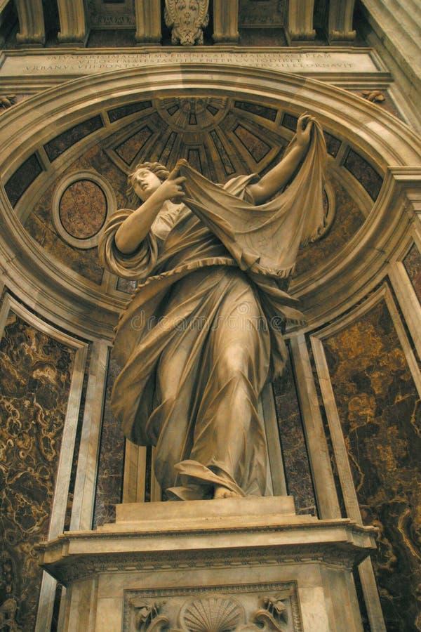 St Veronica Statue, St Peter Basilica, Vatican, Rome, Italie photo libre de droits