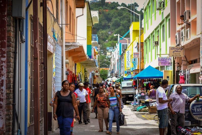 St Vincent & l'isola di granatine fotografia stock libera da diritti