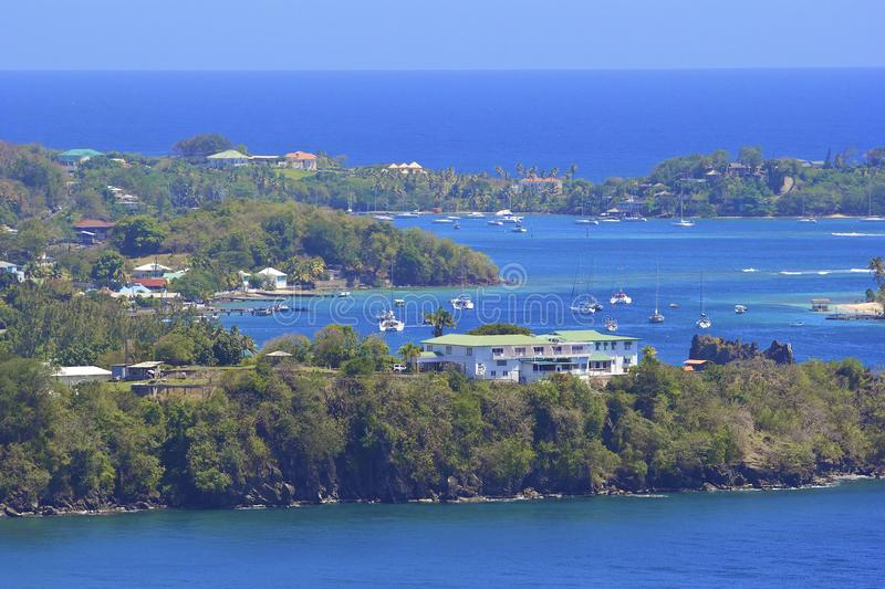 St Vincent panorama, Grenadines royalty-vrije stock fotografie