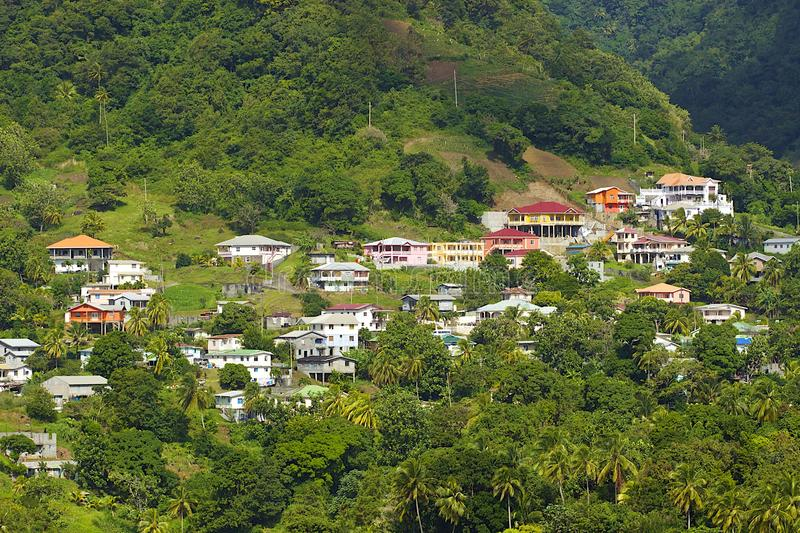 St Vincent panorama, Grenadines royalty-vrije stock afbeelding