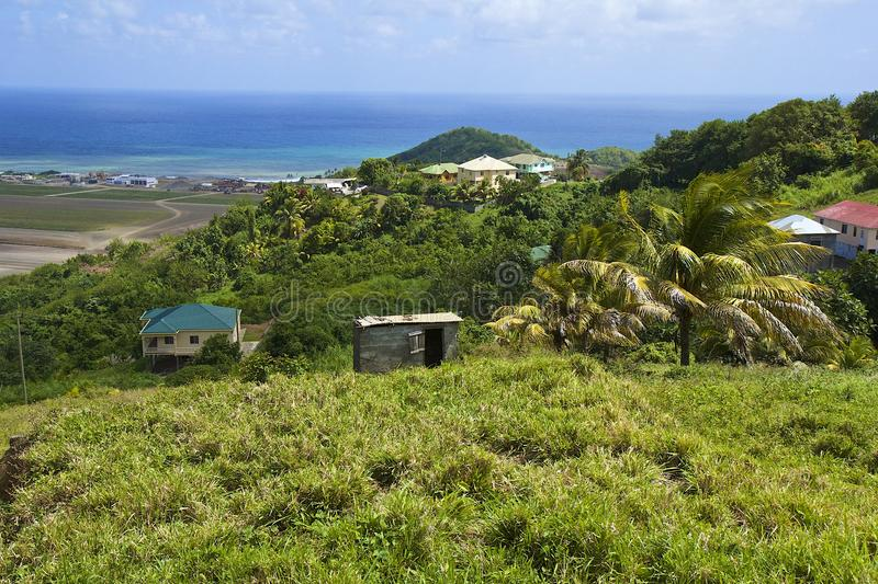 St Vincent panorama, Grenadines stock afbeelding
