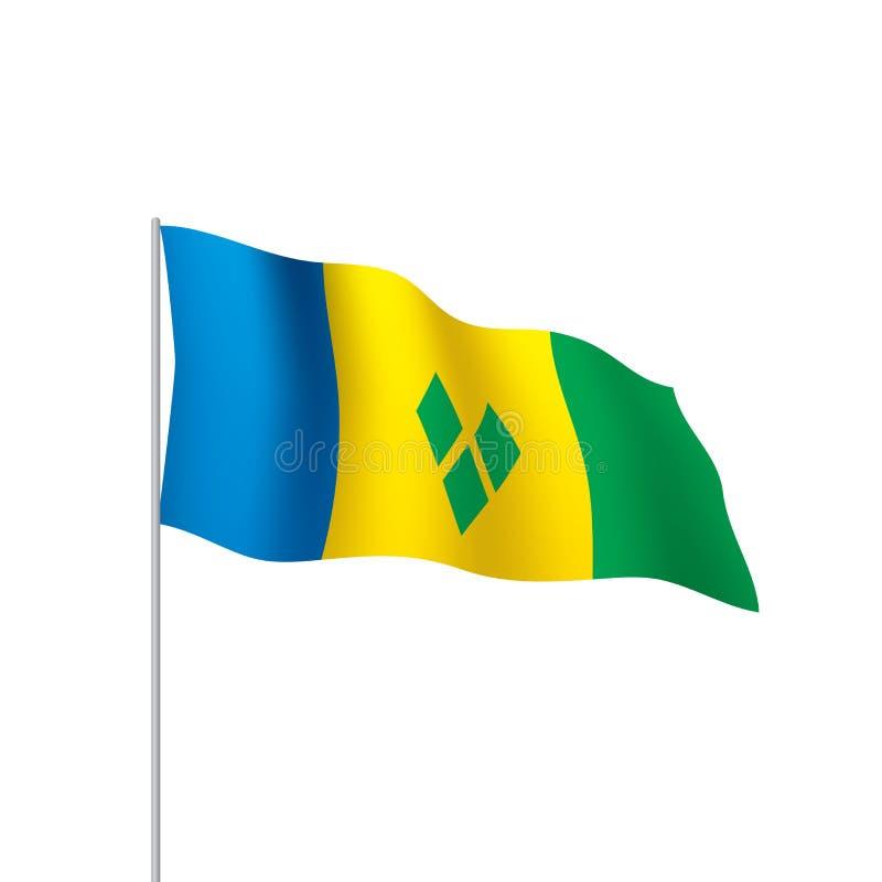 St Vincent und die Grenadinen Flagge stock abbildung