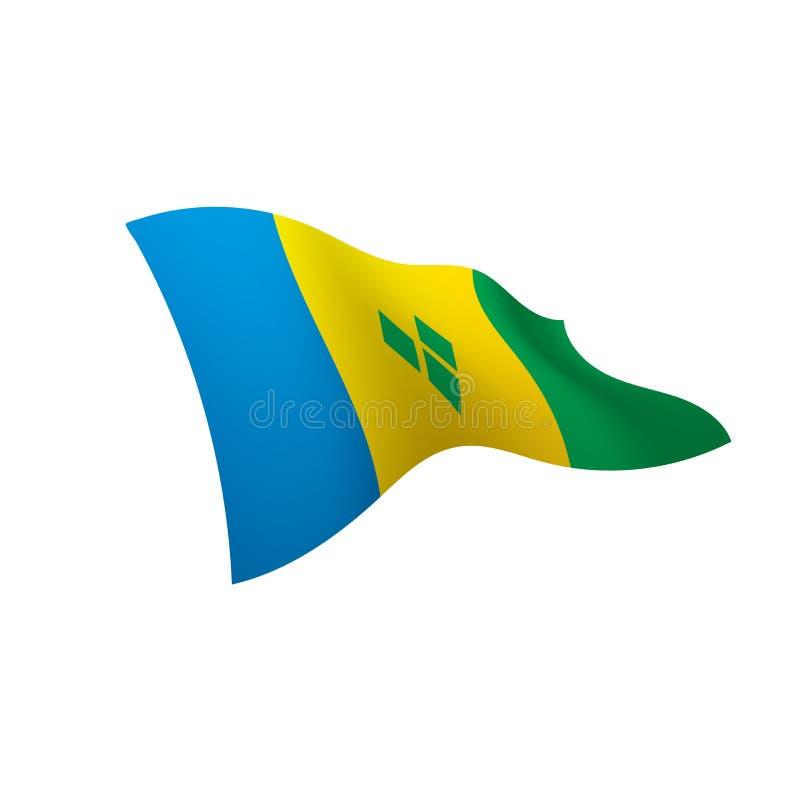 St Vincent und die Grenadinen Flagge lizenzfreie abbildung