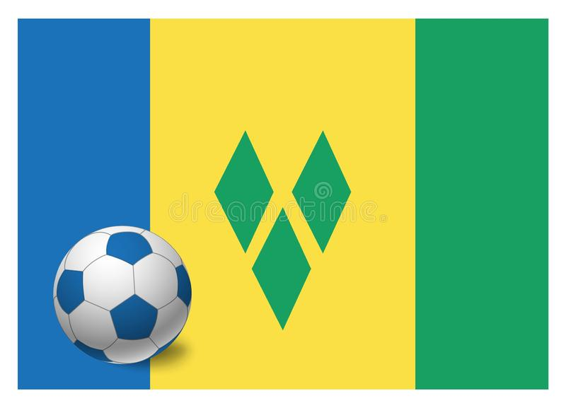 St. Vincent und die Grenadinen Flagge und Fußball stock abbildung