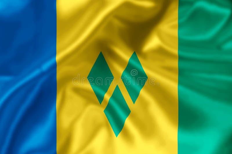 St. Vincent und die Grenadinen Flaggenillustration stock abbildung