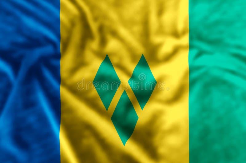 St. Vincent und die Grenadinen Flaggenillustration vektor abbildung