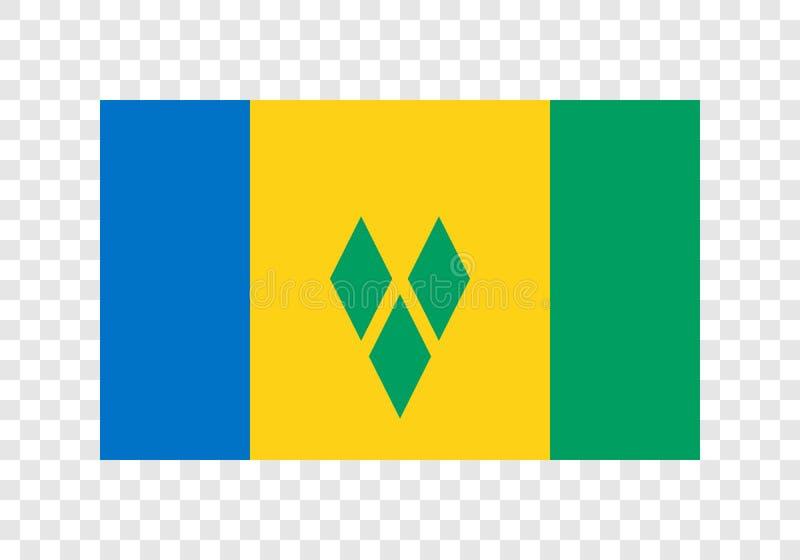 St. Vincent und die Grenadinen - Staatsflagge vektor abbildung