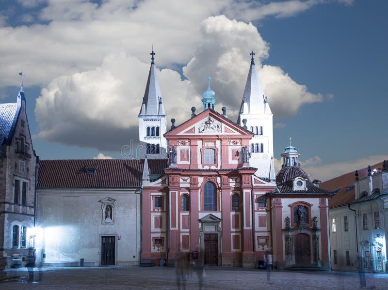 St Vitus大教堂(天主教大教堂)布拉格城堡的,捷克 库存图片