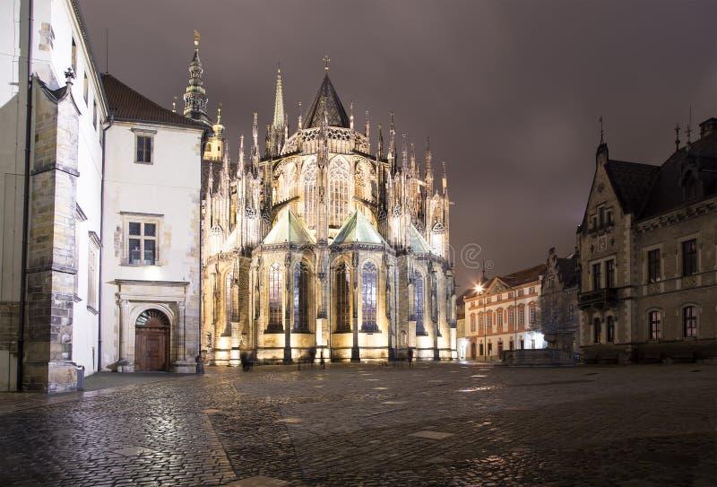 St Vitus大教堂(天主教大教堂)布拉格城堡的,捷克 库存照片