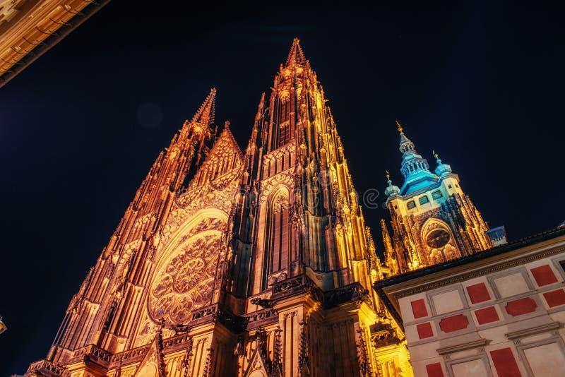 St Vitus Cathedral à Prague photos stock
