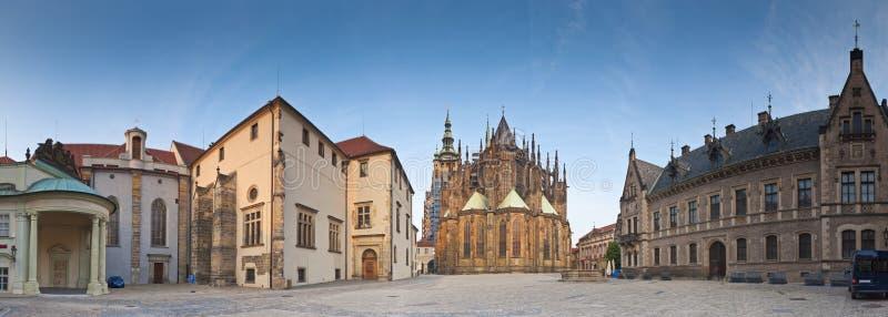 St Vitus Cathedral, castello di Hradcany, Praga immagine stock libera da diritti