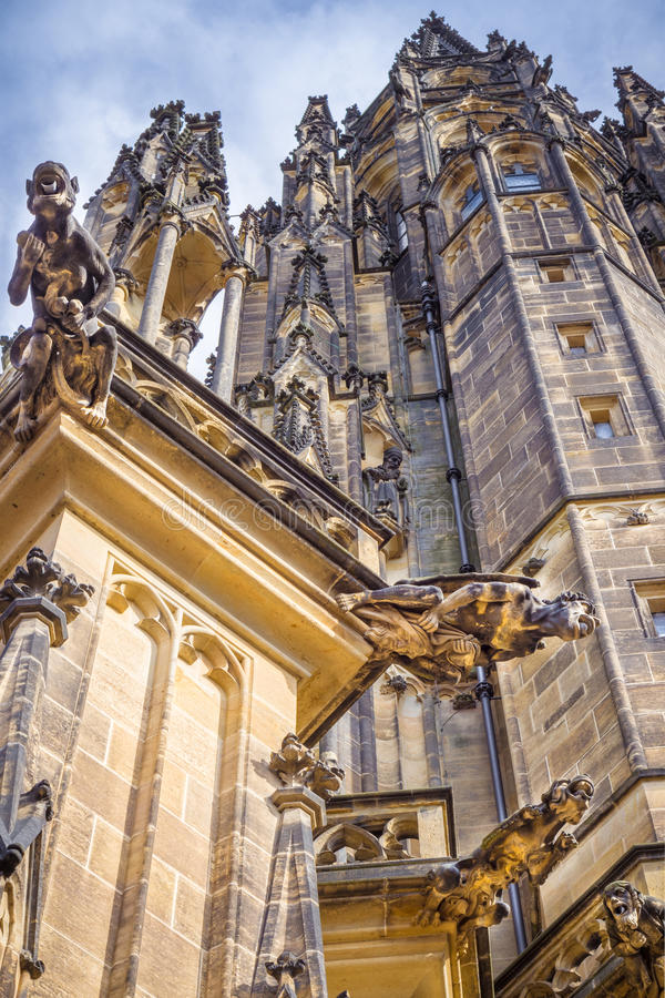St Vitus Cathedral Gargoyles photographie stock