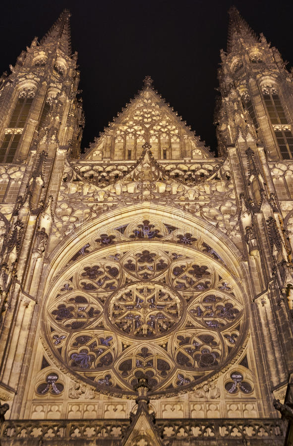 Download St. Vitus Cathedral At Night Stock Image - Image: 28884483