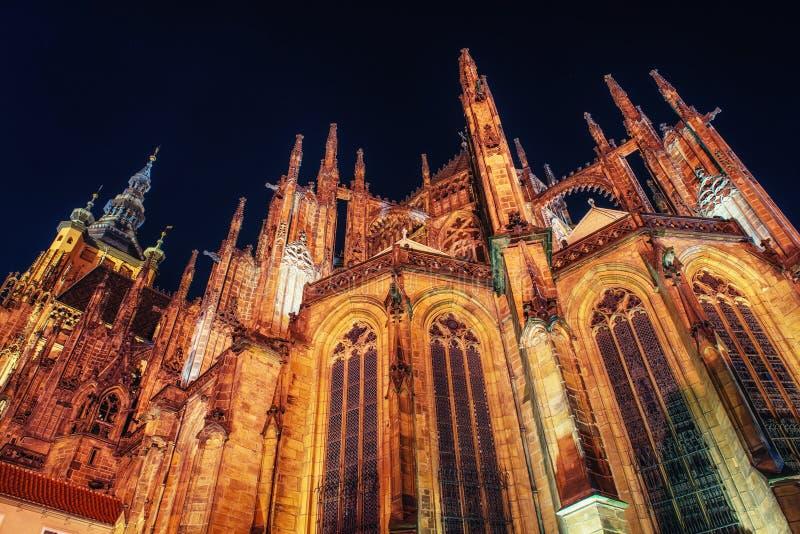 St Vitus Cathedral in Prag stockfotografie