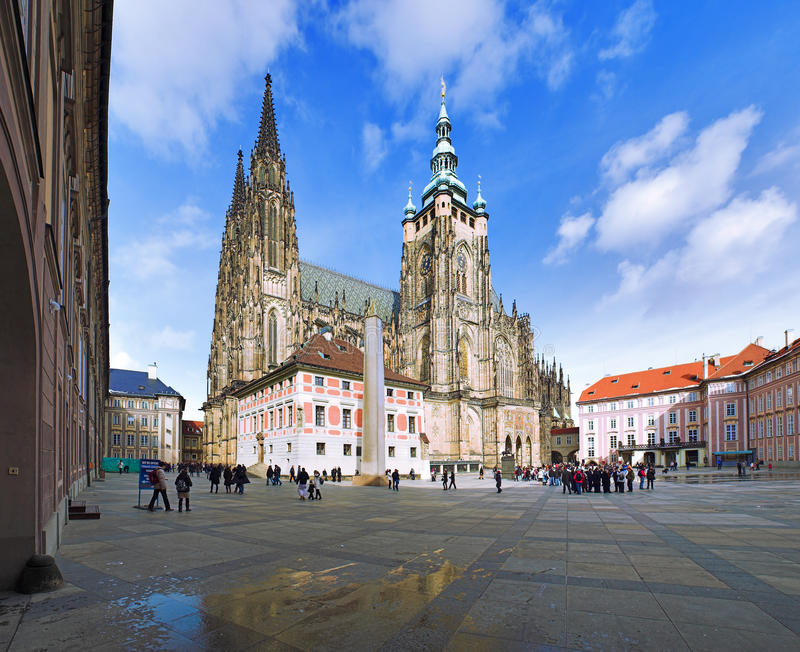 St. Vitus Cathedral in Prague stock images