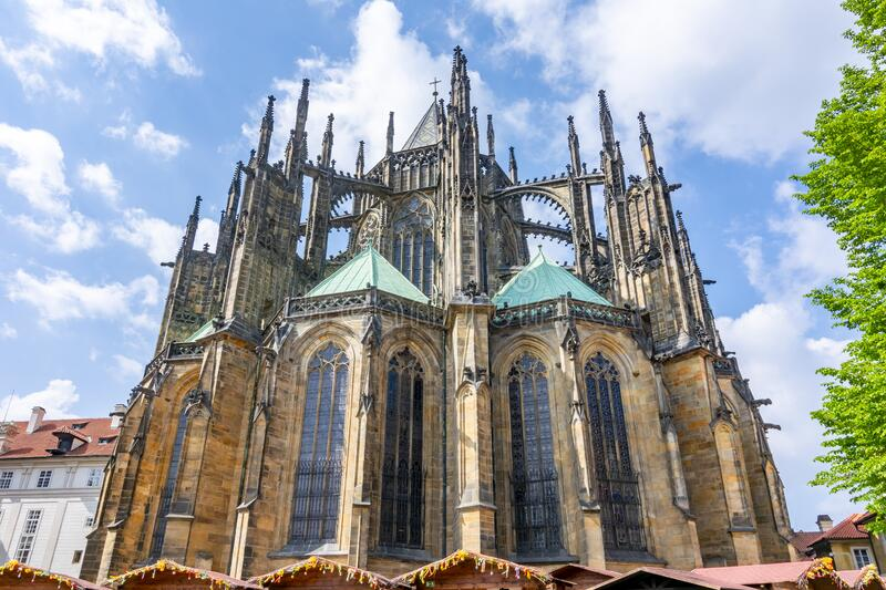 St. Vitus Cathedral in Prague Castle, Czech Republic stock image