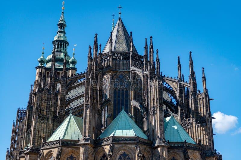 St Vitus Cathedral Prague Czech Republic stock afbeelding