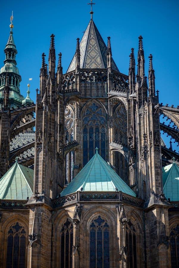 St Vitus Cathedral Prague Czech Republic stock afbeeldingen