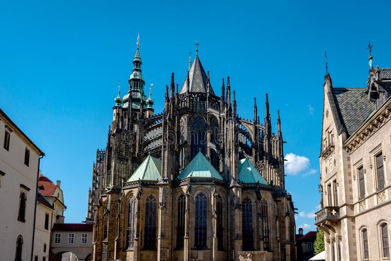 St Vitus Cathedral Prague Czech Republic royaltyfri fotografi