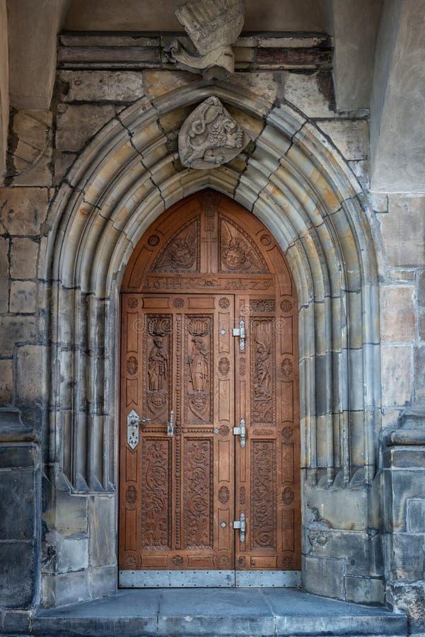 St Vitus Cathedral Prague Czech Republic arkivfoton