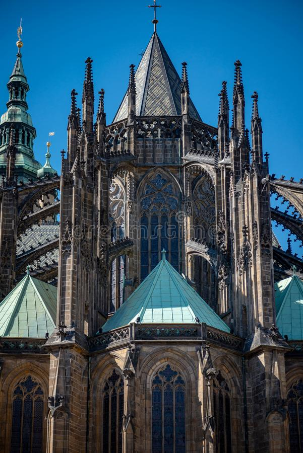 St Vitus Cathedral Prague Czech Republic images stock