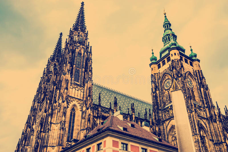 St Vitus Cathedral Prague, République Tchèque image libre de droits