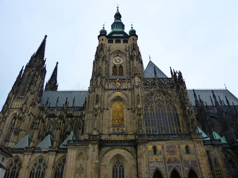 St. Vitus Cathedral in Prague, Czech Republic royalty free stock photos