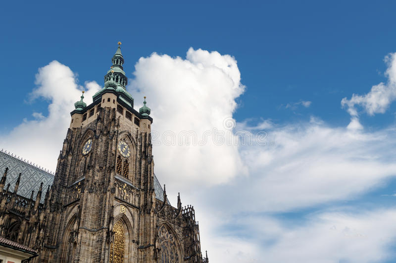 St Vitus Cathedral Tower stock photo